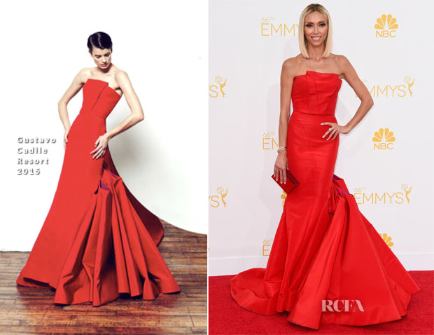 Giuliana Rancic Wears Gustavo Cadile for 2014 Primetime Emmys