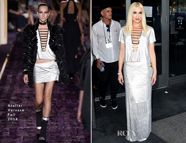 Gwen Stefani In Atelier Versace - 2014 Emmy Awards