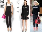 Gwen Stefani's Paige 'Sierra' Denim Overalls And A.L.C. 'Tribe' Sweater