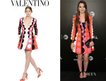 Hailee Steinfeld's Valentino Wool And Silk Blend Crepe Couture Dress
