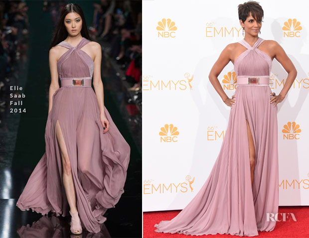 Halle Berry In Elie Saab - 2014 Emmy Awards