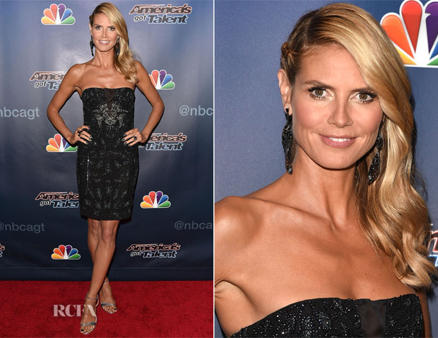 Heidi Klum In Roberto Cavalli - 'America's Got Talent' Season 9 Post-Show Red Carpet Event