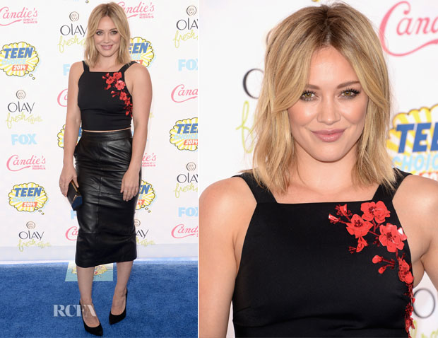 Hilary Duff In Sachin & Babi Noir - 2014 Teen Choice Awards