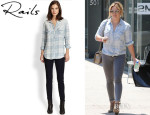 Hilary Duff's Rails 'Liam' Plaid Chambray Shirt