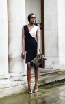 Jonathan Saunders Adeline Colour-Block Dress Givenchy Antigona Leather Envelope Clutch Alexander McQueen Twin Skull Ring