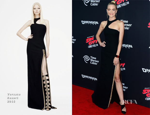 Jaime King In Versace - 'Sin City A Dame To Kill For' LA Premiere