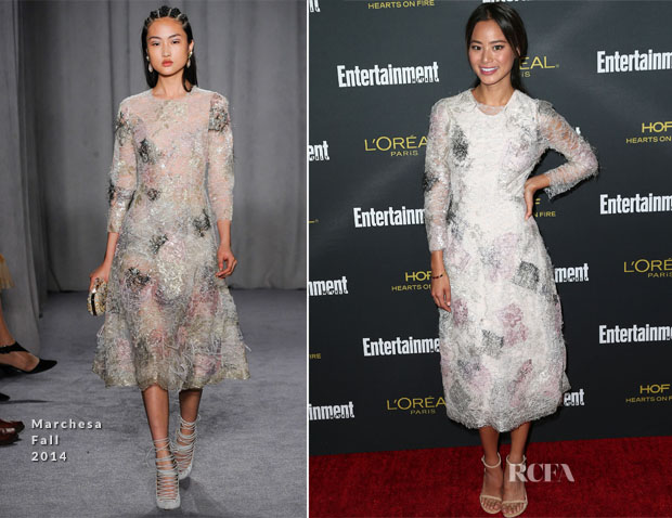 Jamie Chung In Marchesa - Entertainment Weekly's Pre Emmy Party