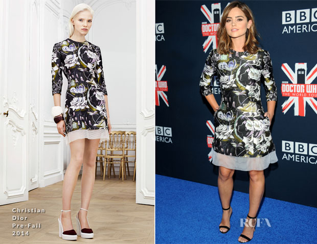 Jenna Coleman In Christian Dior - 'Doctor Who' Premiere Fan Screening