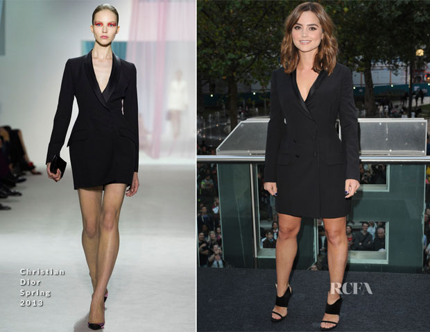 Jenna Coleman In Christian Dior - 'Doctor Who' Season 8 London Premiere