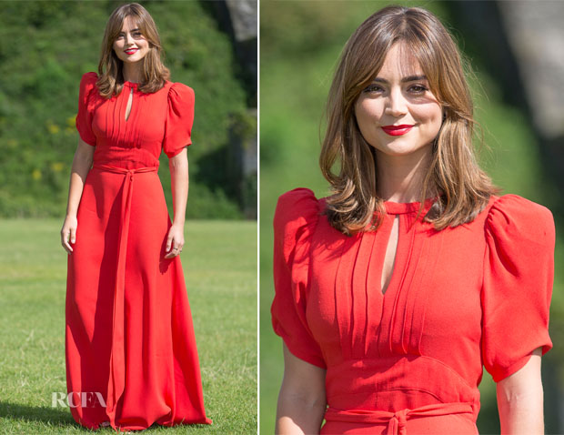 Jenna Coleman In Peekaboo Vintage - 'Doctor Who' Cardiff Premiere