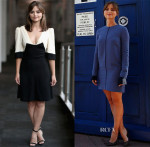 Jenna Coleman In Peekaboo Vintage, Victoria, Victoria Beckham & Christian Dior - 'Doctor Who' Promo Tour