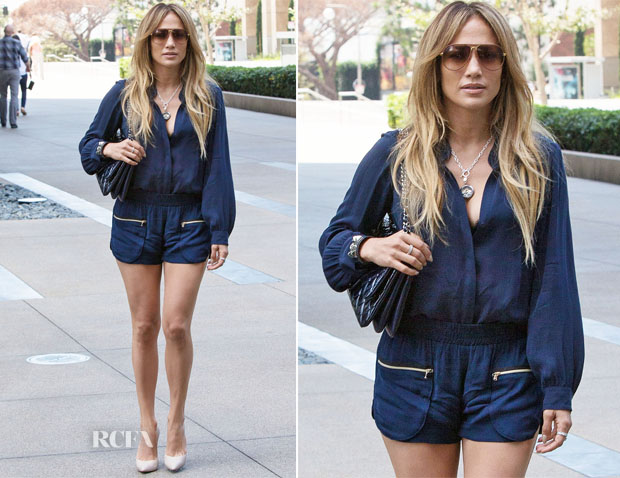 Jennifer Lopez In L'Agence - Out In Beverly Hills