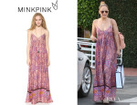 Jennifer Lopez' MinkPink Watercolor Tiles Dress