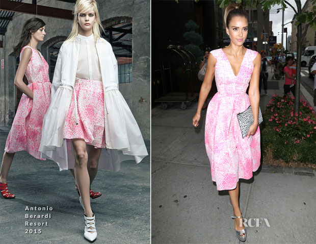 Jessica Alba In Antonio Berardi - Good Morning America