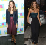 Jessica Alba In Katharine Kidd, The Kooples, Chris Gelinas & Max Mara - 106 & Park & Watch What Happens Live