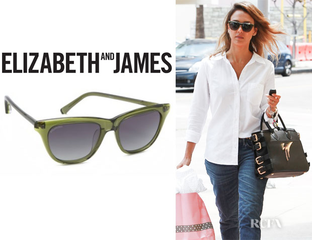 Jessica Alba's Elizabeth and James 'Talbert' Polarized Sunglasses