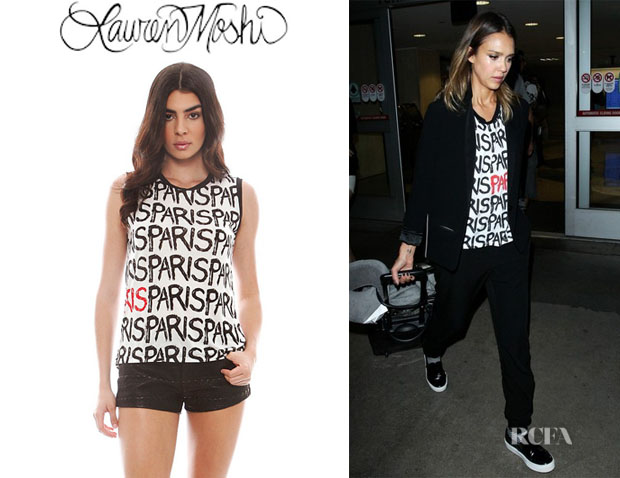 Jessica Alba's Lauren Moshi 'Zink All Over Paris' Tank