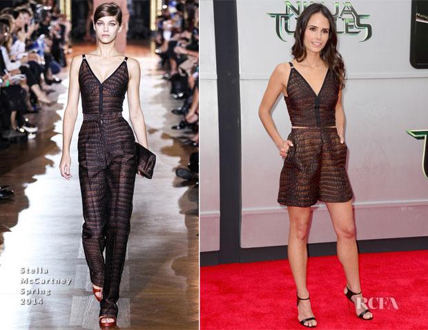 Jordana Brewster In Stella McCartney - 'Teenage Mutant Ninja Turtles' LA Premiere