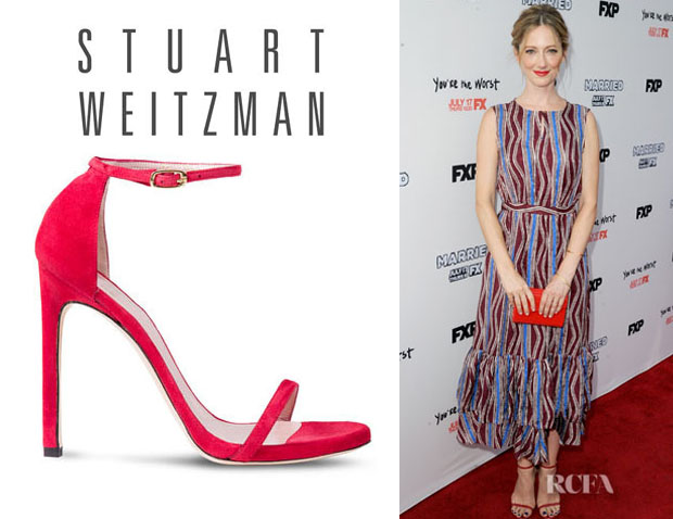 Judy Greer's Stuart Weitzman 'Nudist' Sandals1