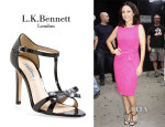 Julia Louis-Dreyfus' L.K. Bennett 'Anya' T-Strap Leather Sandals