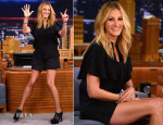 Julia Roberts In Elie Saab - The Tonight Show Starring Jimmy Fallon