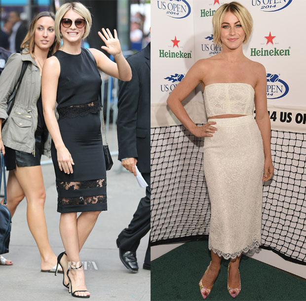 Julianne Hough In Olcay Gulsen & Monique Lhuillier - Good Morning America & 2014 Heineken US Open Kick Off Party