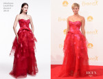 Kaley Cuoco In Monique Lhuillier - 2014 Emmy Awards