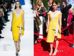 Kate Mara In Christian Dior - 2014 Creative Arts Emmy Awards