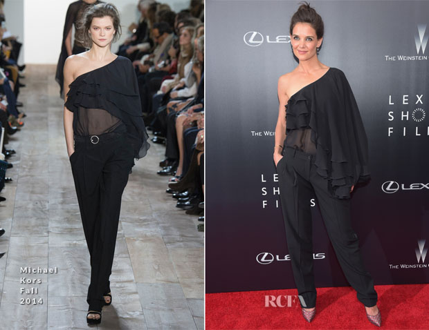 Katie Holmes In Michael Kors - 2nd Annual Lexus Short Films 'Life is Amazing' New York Premiere