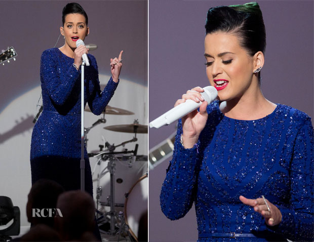 Katy Perry In Elie Saab - Special Olympics Concert