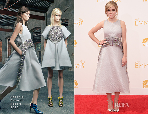 Kiernan Shipka In Antonio Berardi - 2014 Emmy Awards
