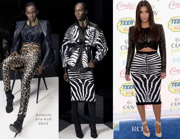Kim Kardashian In Balmain - 2014 Teen Choice Awards
