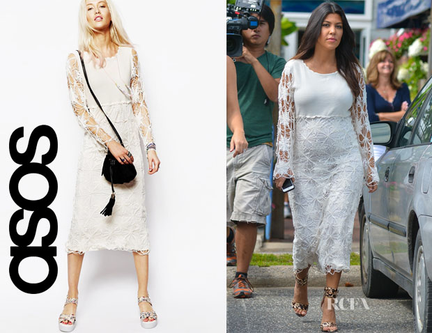 Kourtney Kardashian's ASOS Crochet Midi Dress