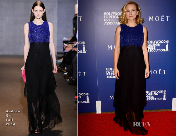 Kristen Bell In Andrew Gn - Hollywood Foreign Press Association's Grants Banquet
