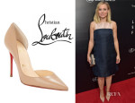Kristen Bell's Christian Louboutin 'Iriza' Half d'Orsay Pumps