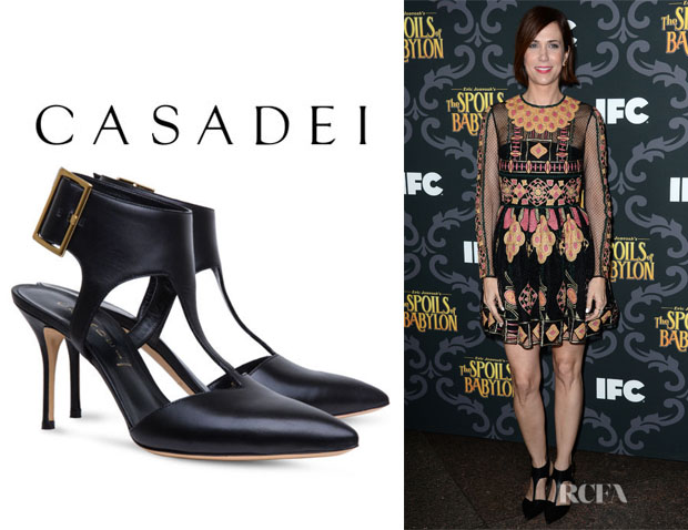 Kristin Wiig's Casadei 'Graphic' Sandals