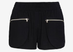 L'Agence Zipper Detail Track Shorts