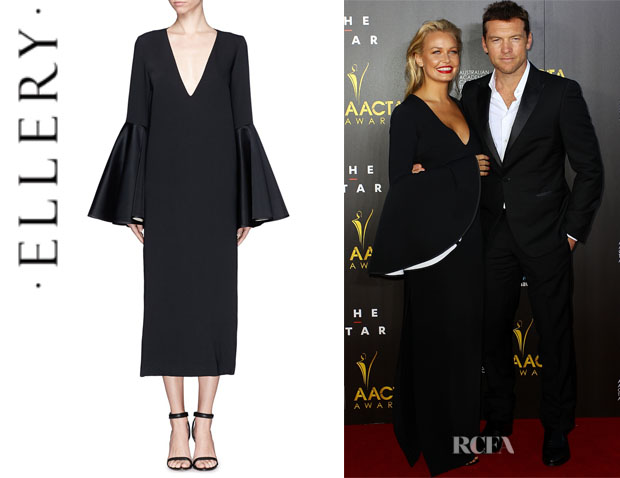 Lara Bingle's Ellery 'Mayfair' Bell Sleeve Dress