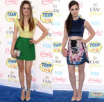 Laura Marano In LUBLU Kira Plastinina & Paper London & Vanessa Marano In Paper London & Cynthia Rowley - 2014 Teen Choice Awards