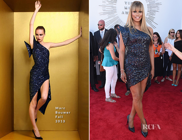 Laverne Cox In Marc Bouwer - 2014 MTV Video Music Awards #VMA