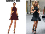LeAnn Rimes' Cushnie et Ochs Viscose Flared Mini Dress
