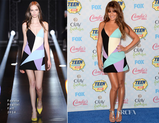 Lea Michele In Fausto Puglisi - 2014 Teen Choice Awards