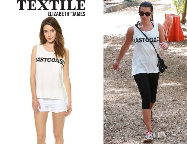 Lea Michele's TEXTILE Elizabeth and James 'Eastcoast Dean' Tee