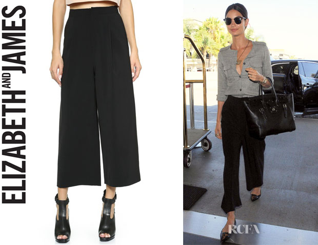Lily Aldridge's Elizabeth and James 'Trenton' Trousers