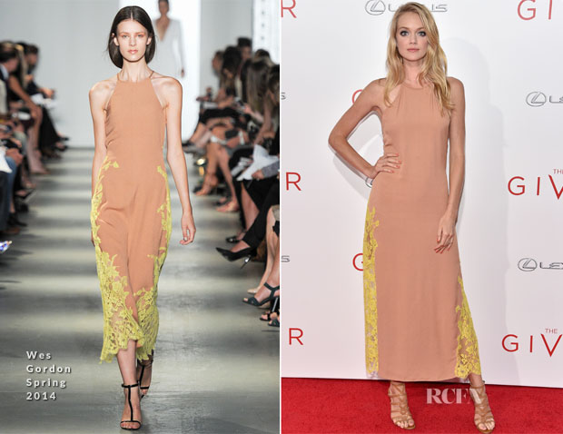 Lindsay Ellingson In Wes Gordon - 'The Giver' New York Premiere