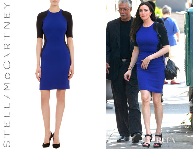 Liv Tyler's Stella McCartney Hourglass-Colourblock Dress