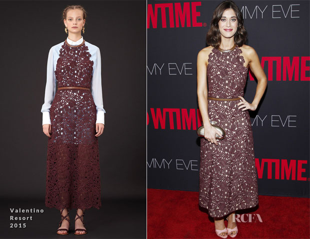 Lizzy Caplan In Valentino - Showtime 2014 Emmy Eve Soiree