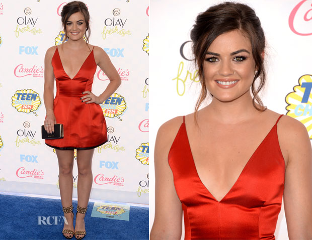 Lucy Hale In Christian Dior - 2014 Teen Choice Awards