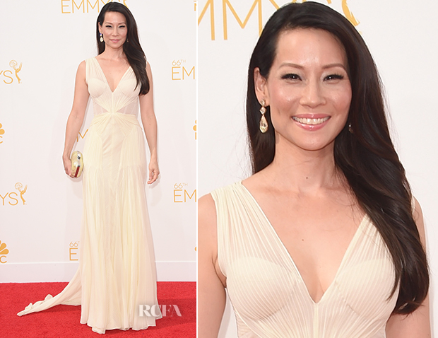 Lucy Liu In Zac Posen - 2014 Emmy Awards