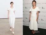 Maggie Gyllenhaal In Derek Lam - 'Frank' New York Premiere